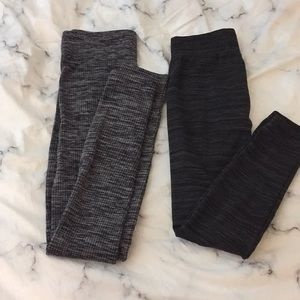 2 pairs of patterned cotton leggings